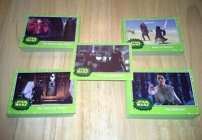 Topps Star Wars Journey to The Rise of Skywalker Green Parallel 110 card set