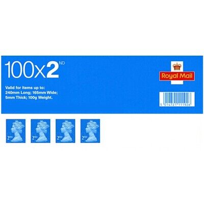 GENUINE Royal Mail 100x2nd Class Stamps