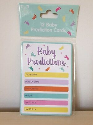 Baby Shower Prediction Cards - Mint