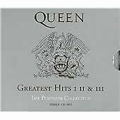QUEEN GREATEST HITS 1 2 & 3 PLATINUM COLLECTION NEW 3 CD BOX SET. Freepost Uk