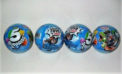 Zuru 5 Surprise Lot Of 4 Blue Capsules 5 Different Toys To Unbox Inside! Sealed