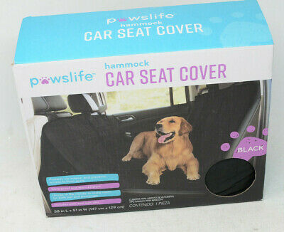 pawslife quilted pet hammock car seat cover in black