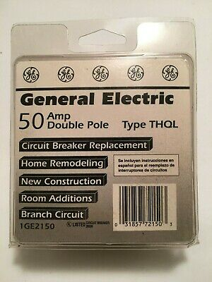 General Electric GE 50 amp Double 2 Pole Circuit Breaker Type THQL GE2150 NOS
