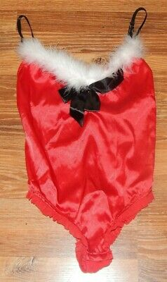Women's Size Medium M PASSION FOREVER Christmas Santa Red Sexy Lingerie Teddy
