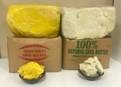 RAW AFRICAN SHEA BUTTER Unrefined Organic 100 % Pure GHANA Choose SIZE And COLOR
