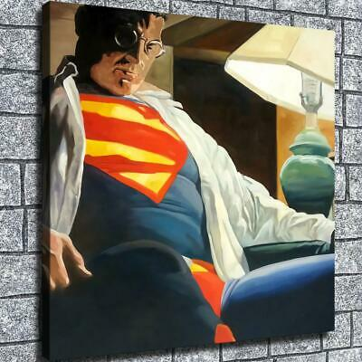 "12""x12""Silence superman HD Canvas print Home decor Wall art posters paintings"