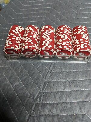 Camel Las Vegas Casino Poker Chips. 100 Collectable Poker Chips, red with tray