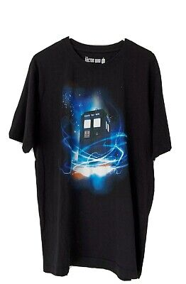 OFFICIAL BBC DOCTOR WHO Tardis in Space Men's Black Tshirt - Size XL