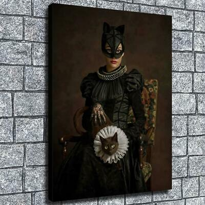 "12""x16""Aristocratic Catwoman HD Canvas print Home decor Wall Art Paintings Photo"