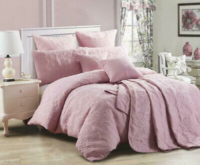 Bianca Elin Quilt Cover Set Dusty Pink in All Sizes