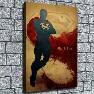 "12""x18""Abstract Superman Poster HD Canvas print Home decor Room Wall Art Picture"