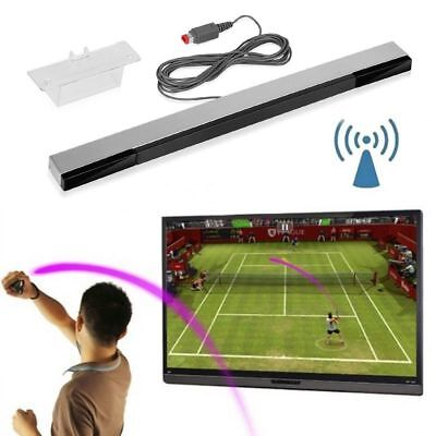 Wired Infrared IR Signal Ray Sensor Bar/Receiver&Stand for Nintendo Wii Remote🔥
