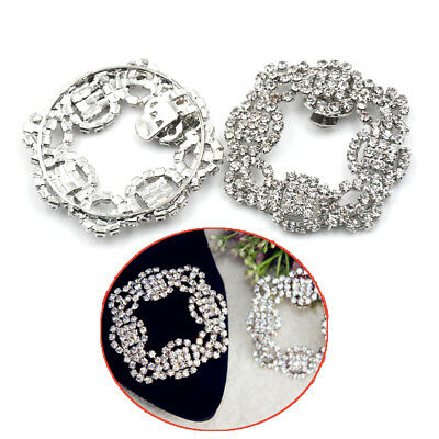 1PC Shoes Clips Rhinestone Crystal Flower Shoes Buckle Bridal Wedding Decor VQ