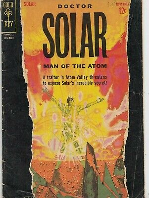 Doctor Solar Man Of The Atom #2  1962  Graded Gd/Vg Silver Age Gold Key