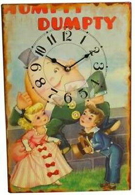 Children's Room Wood Wall Clock Muffet Vintage Furniture Interior Gift Christmas