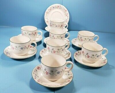 Royal Doulton Expressions 16 pc., Tea Cups Saucers for 8, Florentina, England