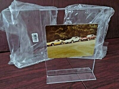 "Set of (3) 51/2""x71/2"" Picture Holder Menu Display Stand Acrylic Double Sided"