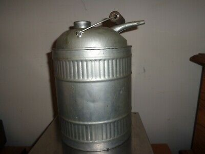 Kerosene Vintage Oil Can Jug, Wood Handle 9 1/2 Inches to spout base