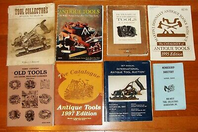 8 Antique Tool Price Guides, Collection, Catalogs, Membership Booklet 1989-2004
