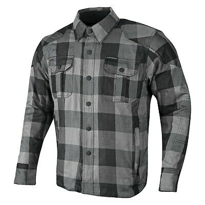 Motorbike Motorcycle Flannel Lumberjack Shirt Made with Dupont™Kevlar® CE Armour