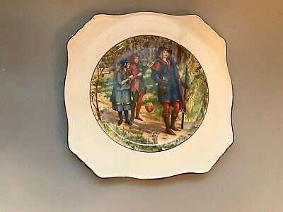 Antique Royal Winton Grimwades England Interesting Square Plate Prince Jester