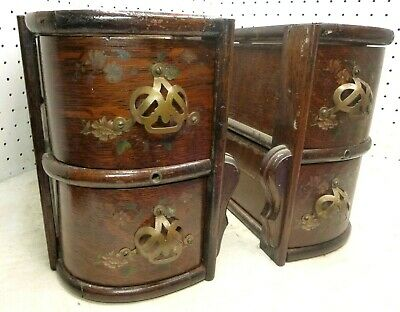 Antique Treadle Sewing Machine Cabinet Ornate Drawers FAULTLESS NICE!