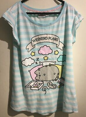Official PUSHEEN Ladies Pink PURRMAID CAT Pyjama PJ Lounge Bottoms Sz S 6-8