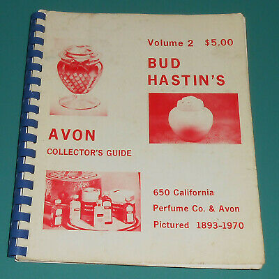 Vintage Bud Hastins AVON Collectors Guide Vol 2 1893-1970 History Bottles Photos