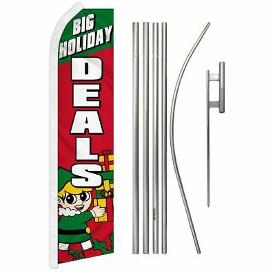 """BIG HOLIDAY DEALS"" super flag & pole kit"