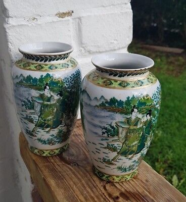 Couple of Vintage Chinese Porcelain Vases