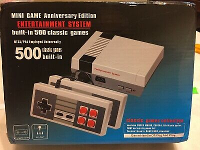 Mini Retro Game Anniversary Edition Entertainment System 500 Built-In Games New