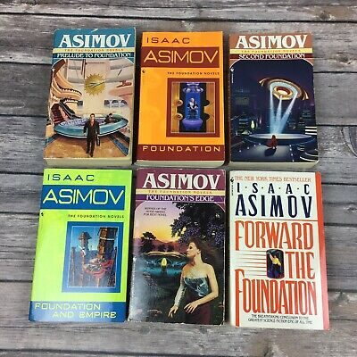 6 Isaac Asimov The Foundation Novels Science Fiction Book Series Future SciFi PB