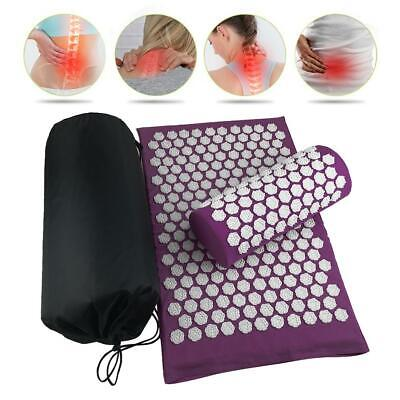 1 Set Lotus Acupuncture Massage Pads Relief Body Stress Pain Acupressure Cushion