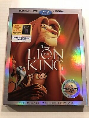 The Lion King Bluray + DVD Limited Edition With Film Frame Rafiki Holding Simba!