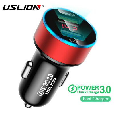Uslion Led USB Car Fast Charger Adapter Double Universal Iphone Multicolor 3.1A