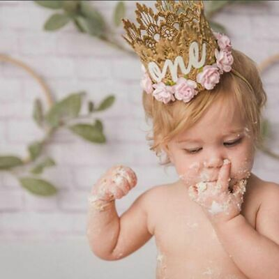 Newborn Party Flower Crown Baby Headbands Birthday Headband Lace Hairband