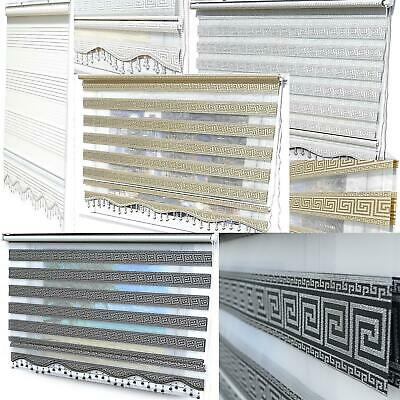 Doppelrollos Versace White Silver Black Gold Glitter Zebra Perde Window Blinds
