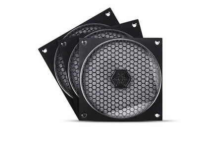 SilverStone 120mm Fan Grill and Filter Kit 3 Pack - MODEL : SST-FF121B-3PK (F42)