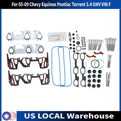 Head Gasket Bolts Kit Set For 05-09 Chevy Equinox Pontiac Torrent 3.4 OHV VIN F