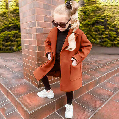 Toddler Baby Girls Long Sleeve Winter Solid Windproof Coat Warm Outwear Jacket
