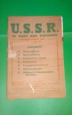 Original Soviet USSR Army Military Topographic Map