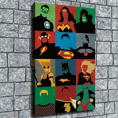 """12""""x18"""" Superhero silhouette Poster HD on Canvas Home Decor Room Wall Art paints"""