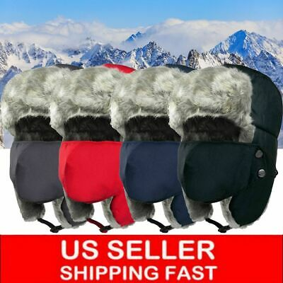 Men Women Winter Russian Hat Trooper Bomber Snow Ski Ushanka Waterproof Warm Hat
