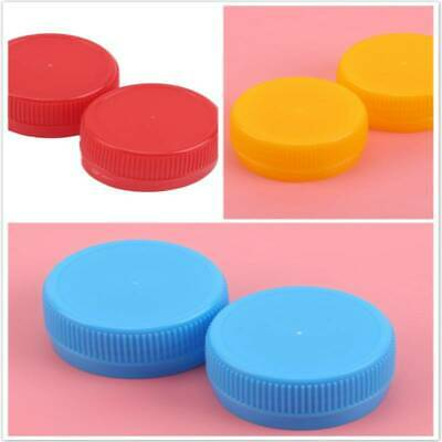 100Pcs Plastic Water Bottle Caps White Bottlecaps Craft Supply Recycled Lids MA