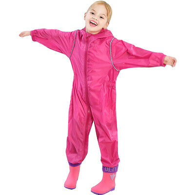 Girls Personalised waterproof Rain suit all in one childrens puddle outdoor