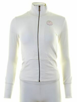 DIESEL Girls Tracksuit Top Jacket 13-14 Years Large White Cotton  EE17