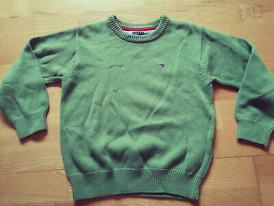 Tommy Hilfiger Boys Green Top Sweater Jumper Age 6 Years Old