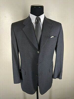 Brooks Brothers USA Vintage 100% Wool Suit 3 Btn Side Vents  41 R--Fit 41R-43 R