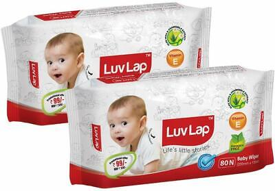 Paraben Free Baby Wet Wipes with Aloe Vera (80 Wipes, Pack of 2, 160 Sheets) US