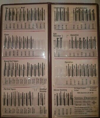 Dental Diamond Burs Spring Health Products Assorted Diamond Wallet 72pcs